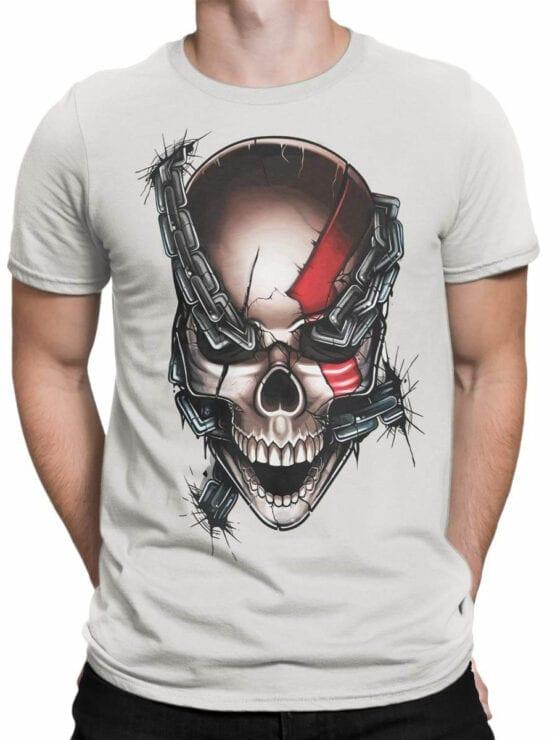 1804 God of War Skull T Shirt Front Man
