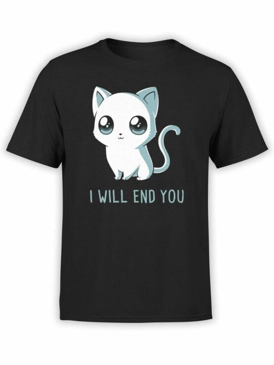 1805 Cute Funny Cat T Shirt Front