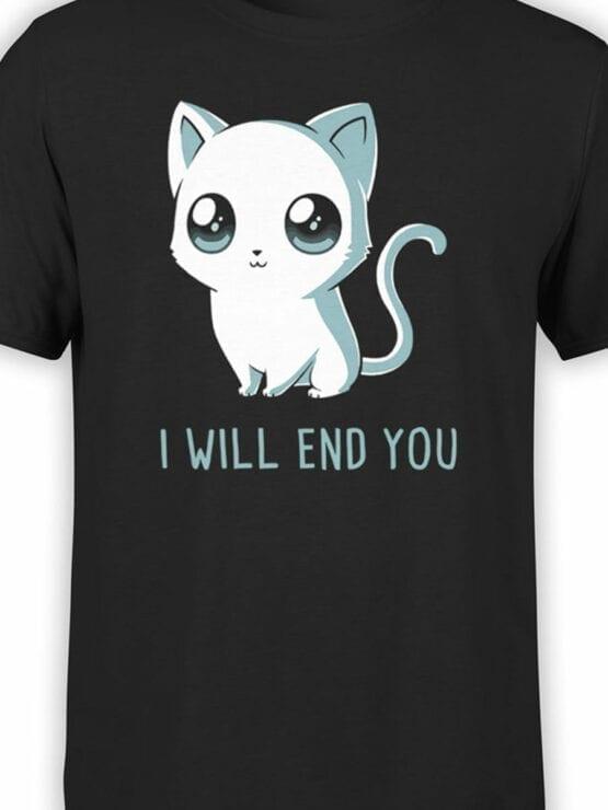 1805 Cute Funny Cat T Shirt Front Color