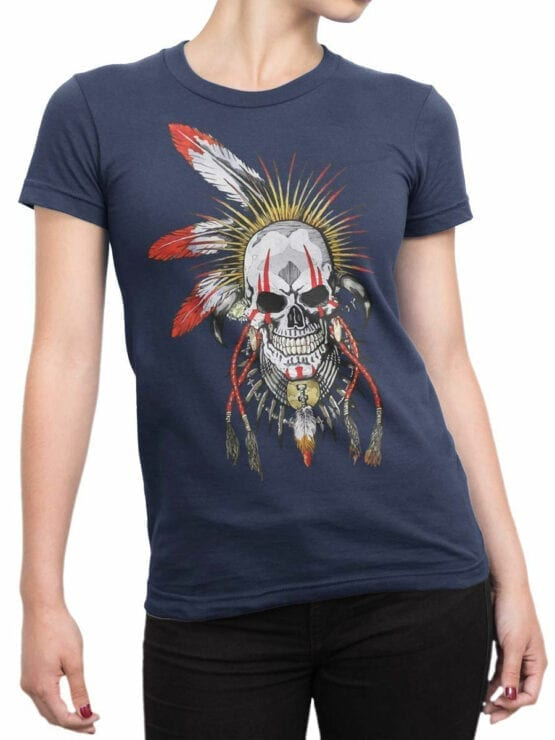1808 Dead Warrior T Shirt Front Woman