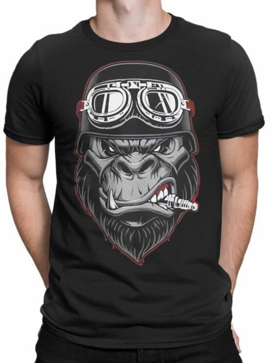 1811 Wild Biker T Shirt Front Man