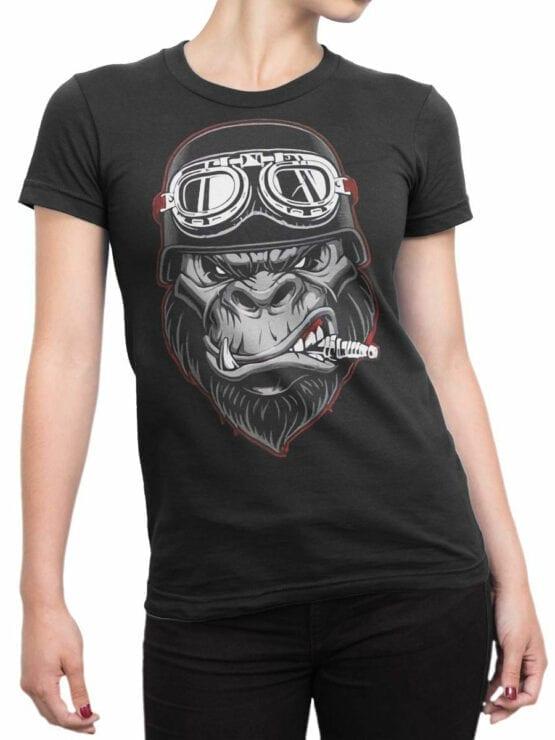 1811 Wild Biker T Shirt Front Woman