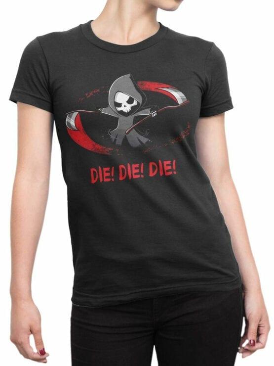 1813 Die Die Die T Shirt Front Woman