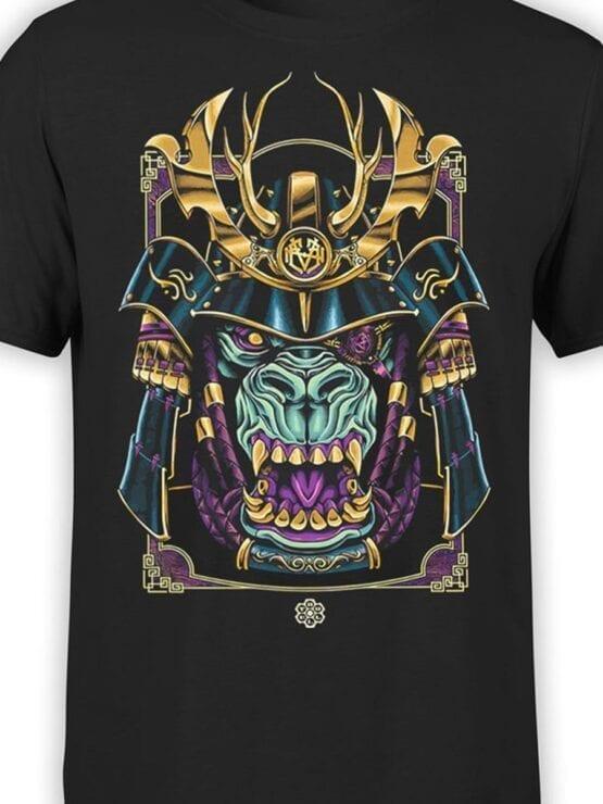 1814 Monster Samurai T Shirt Front Color