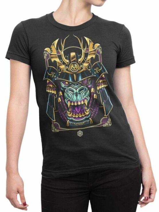 1814 Monster Samurai T Shirt Front Woman