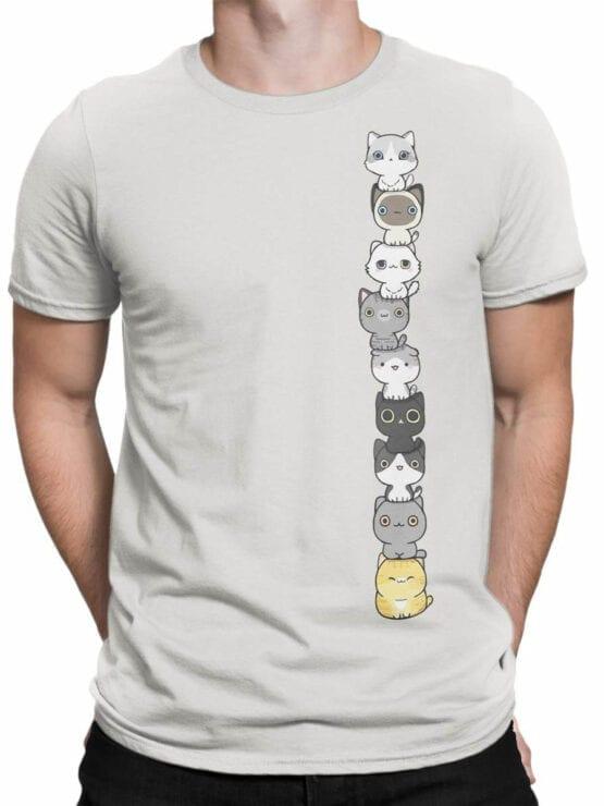 1815 Сute Cats Pyramid T Shirt Front Man