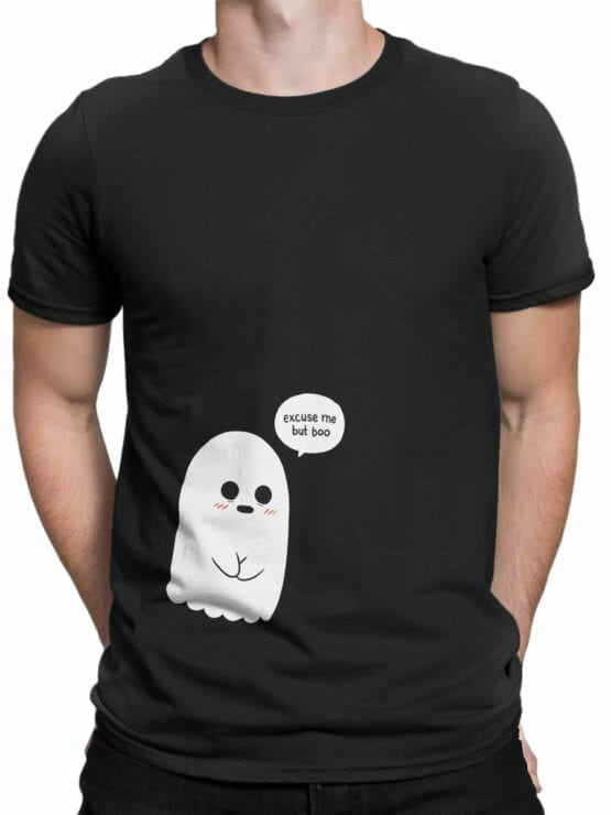 1816 But Boo Cute Ghost T Shirt Front Man