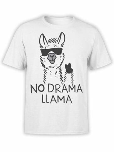 1817 No Drama Llama T Shirt Front