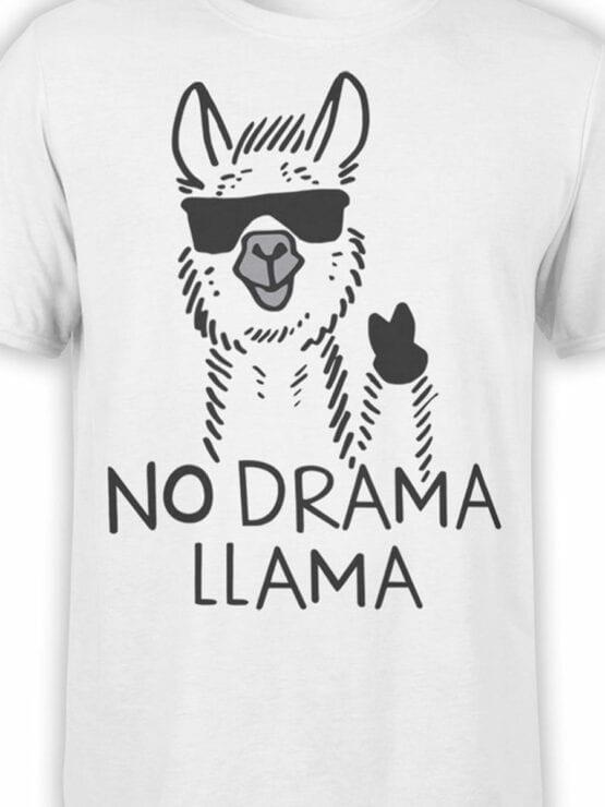 1817 No Drama Llama T Shirt Front Color