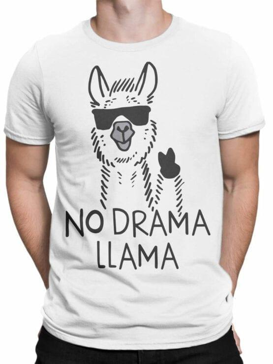 1817 No Drama Llama T Shirt Front Man