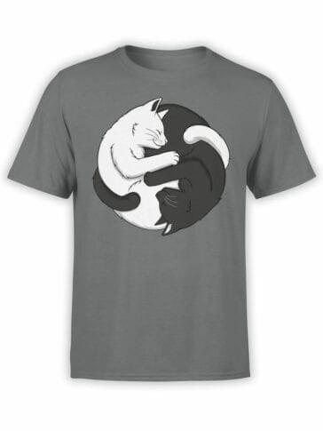 1819 Yin Yang Cats T Shirt Front