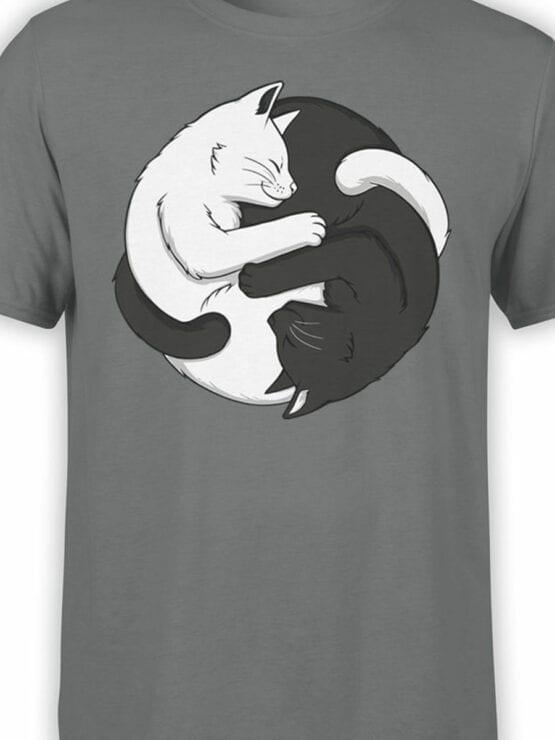 1819 Yin Yang Cats T Shirt Front Color