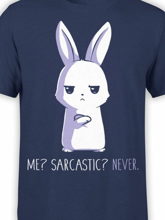 1821 Sarcastic T Shirt Front Color