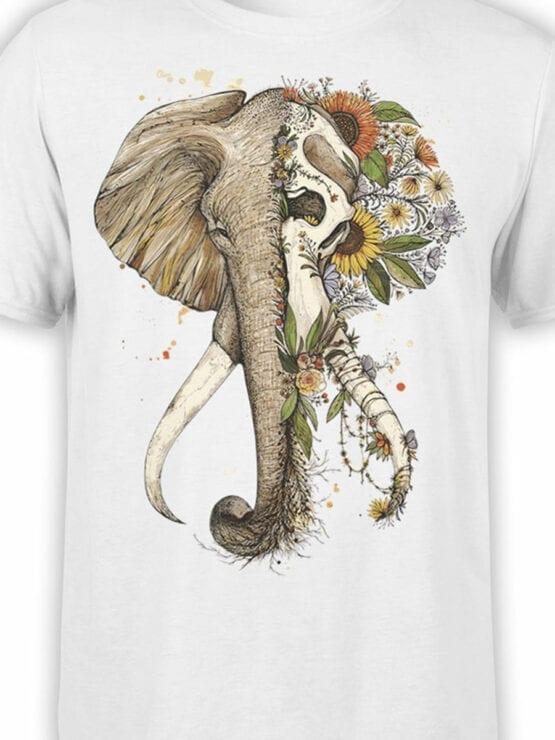 1822 Mystical Elephant T Shirt Front Color