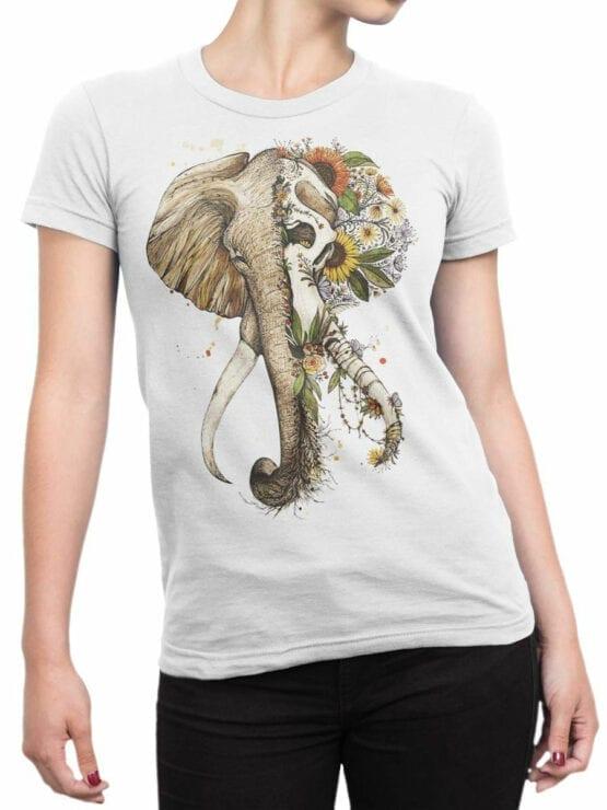 1822 Mystical Elephant T Shirt Front Woman