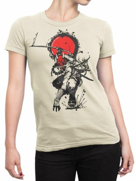 1823 Devil Samurai T Shirt Front Woman