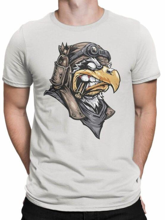 1824 Eagle Pilot T Shirt Front Man