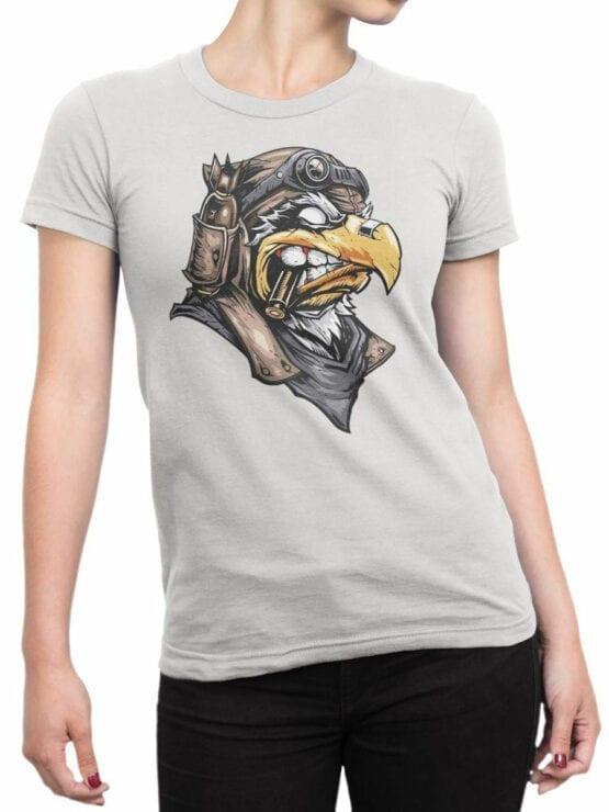 1824 Eagle Pilot T Shirt Front Woman