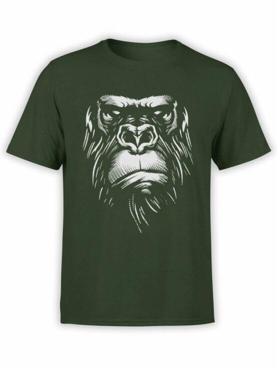 1825 Evil Gorilla T Shirt Front