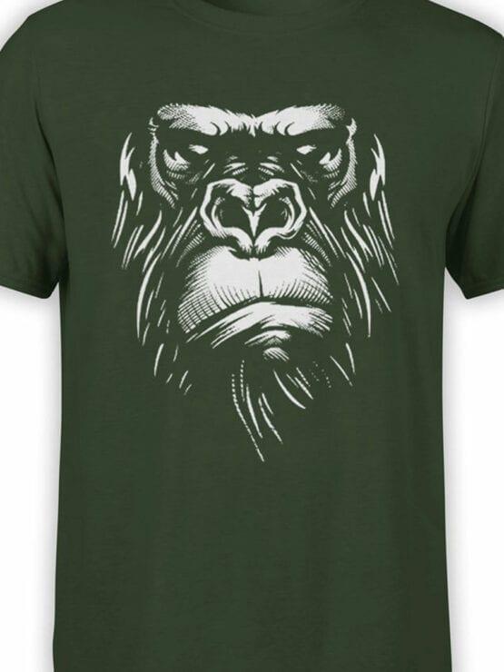 1825 Evil Gorilla T Shirt Front Color