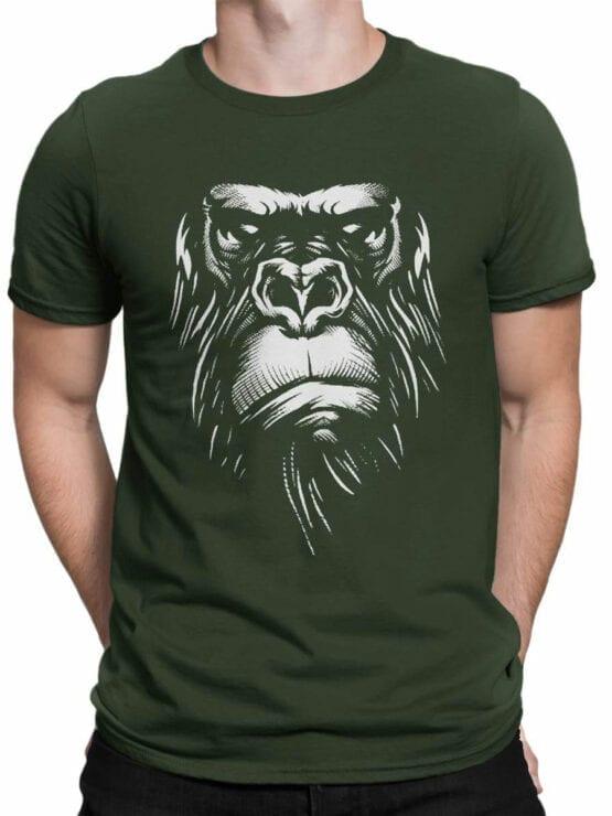 1825 Evil Gorilla T Shirt Front Man
