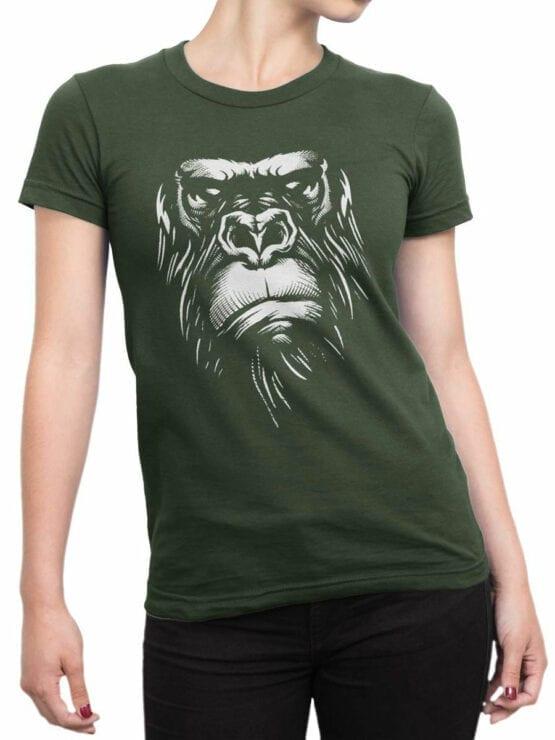1825 Evil Gorilla T Shirt Front Woman
