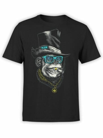 1826 OkDok Mr Monkey T Shirt Front