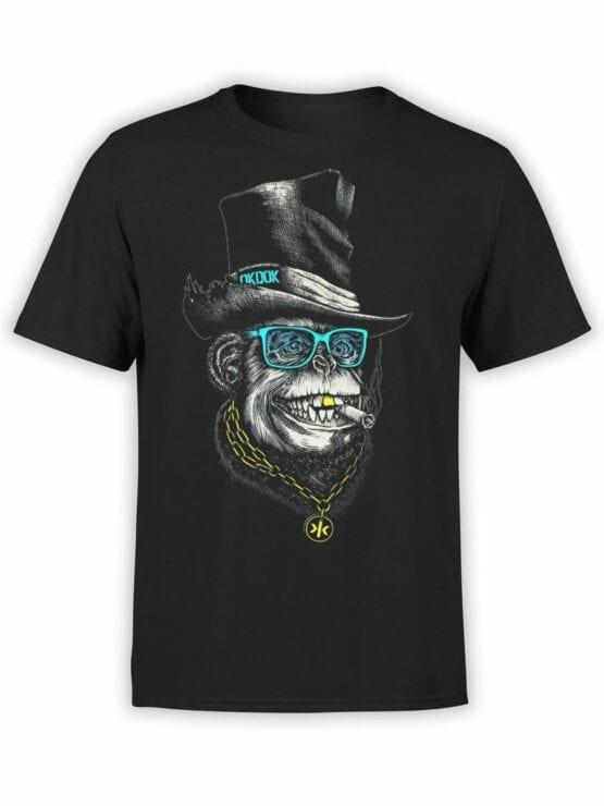 1826 OkDok Mr Monkey T Shirt Front