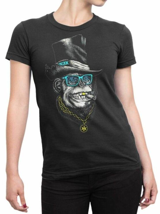 1826 OkDok Mr Monkey T Shirt Front Woman