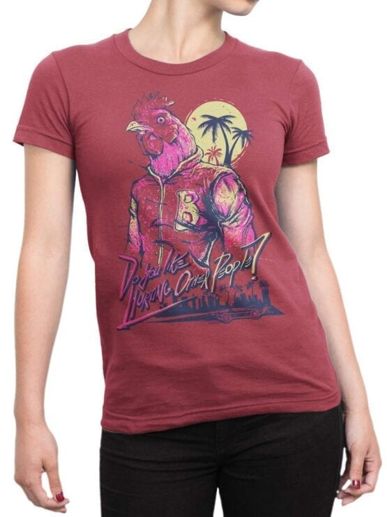 1828 Hurting Cock T Shirt Front Woman