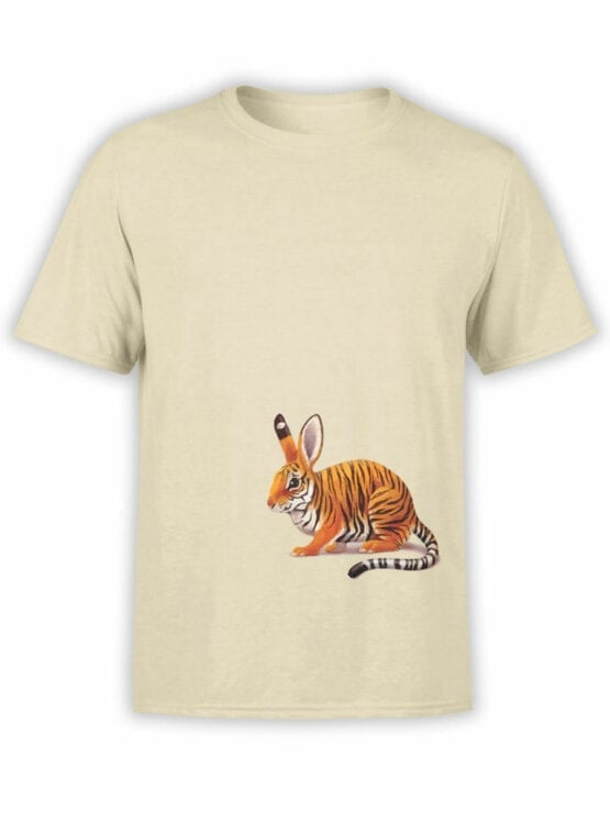 1829 Tiger Rabbit T Shirt Front
