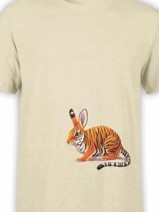 1829 Tiger Rabbit T Shirt Front Color