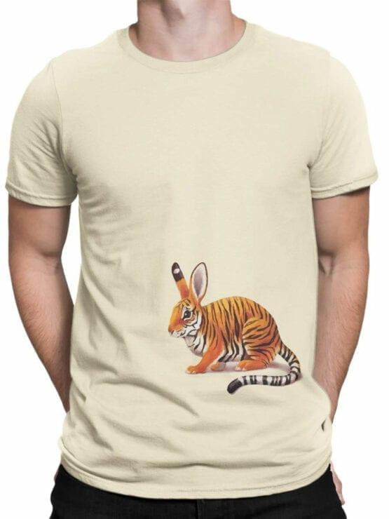 1829 Tiger Rabbit T Shirt Front Man