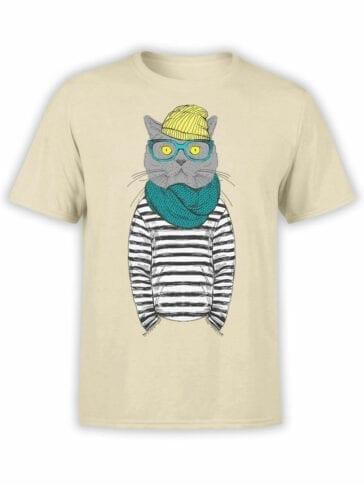 1830 Art Cat T Shirt Front