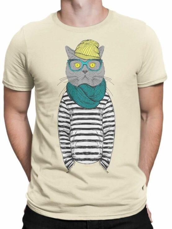 1830 Art Cat T Shirt Front Man