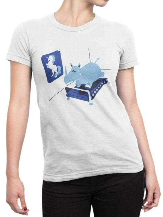 1834 Fitness T Shirt Front Woman