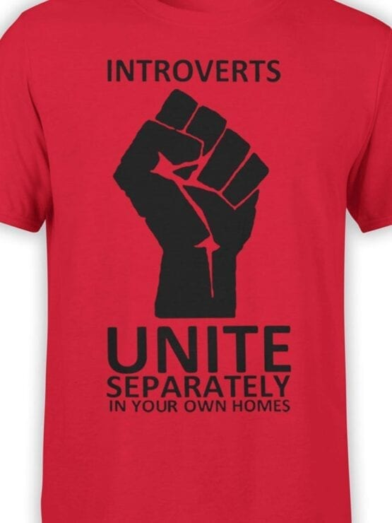 1835 Introverts T Shirt Front Color