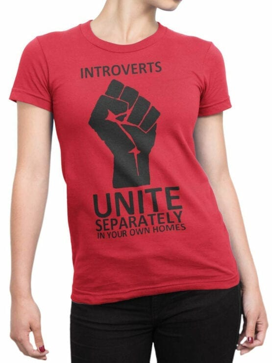 1835 Introverts T Shirt Front Woman
