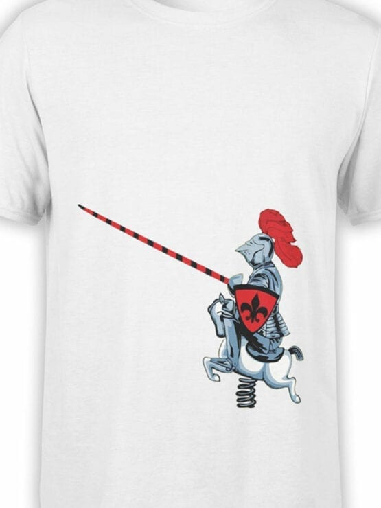 1836 Cute Knight T Shirt Front Color