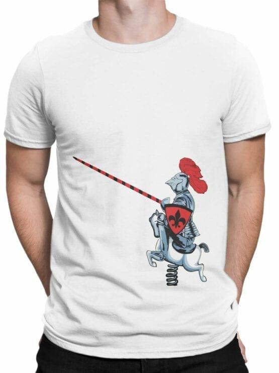 1836 Cute Knight T Shirt Front Man