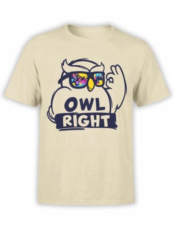 1837 Owl Right T Shirt Front