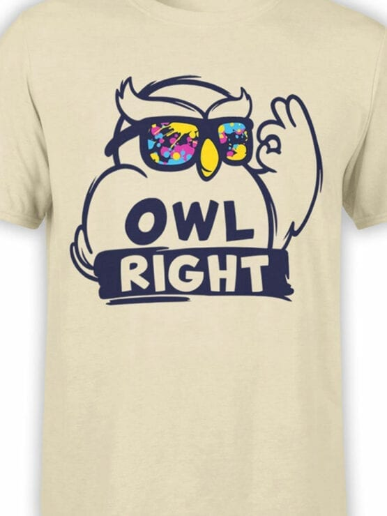 1837 Owl Right T Shirt Front Color