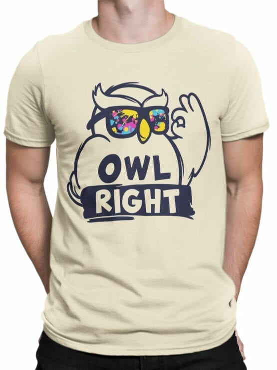 1837 Owl Right T Shirt Front Man