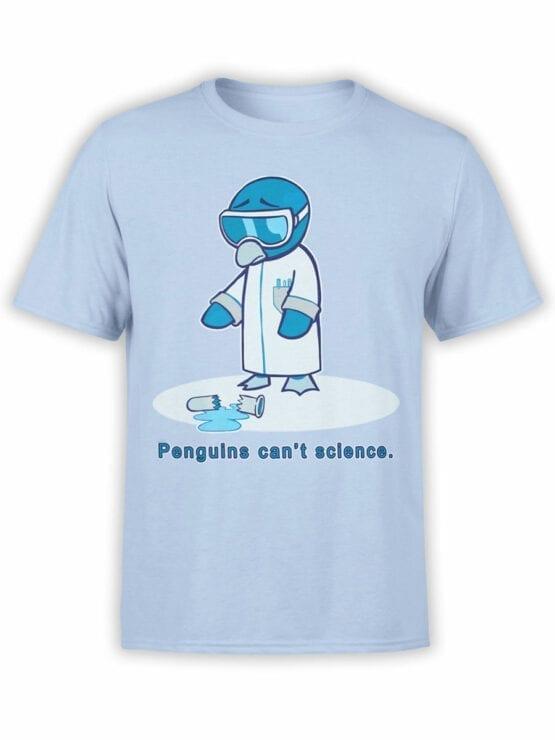 1838 Penguins Science T Shirt Front