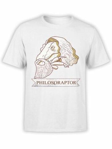 1839 Dinosopher T Shirt Front