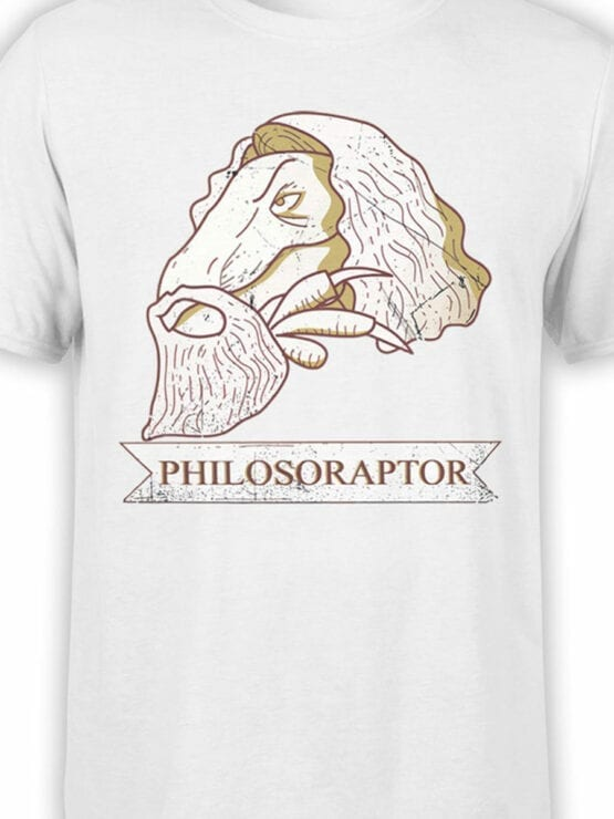 1839 Dinosopher T Shirt Front Color