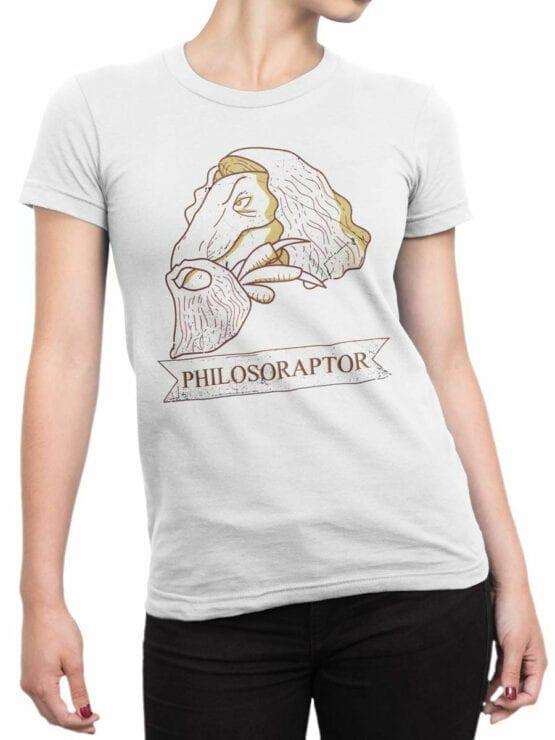 1839 Dinosopher T Shirt Front Woman