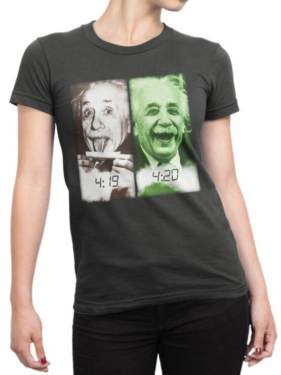 1844 Einstein 420 T Shirt Front Woman