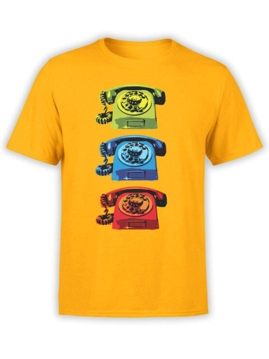 1845 Retro Phones T Shirt Front