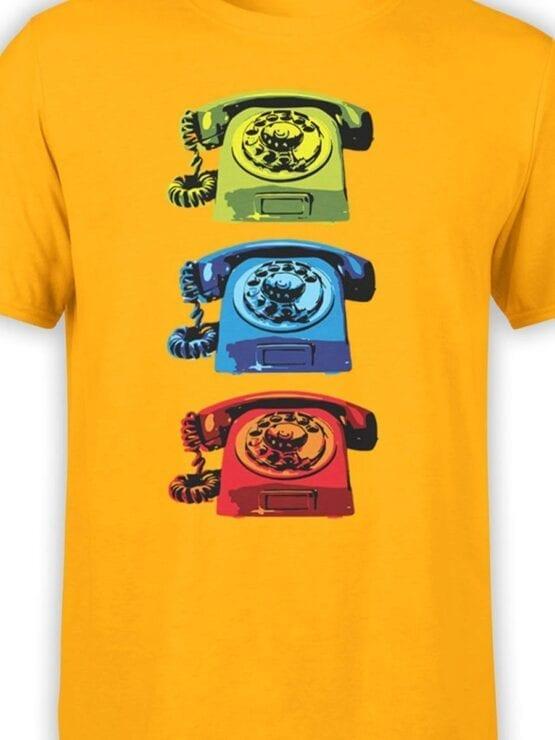 1845 Retro Phones T Shirt Front Color